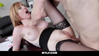 MYLF - Hot Ginger Boss Gets Fucked By BWC Employee