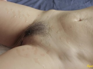 Many Female Squirting orgasm and male squirt.