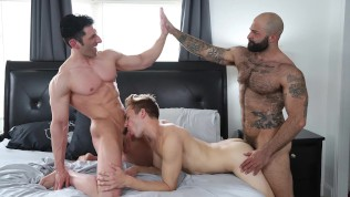 GAYWIRE - Atlast Grant, Sir Jet And Bar Addison On POUND HIS ASS