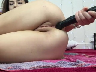 Schoolgirl Takes Huge 24 Inch BBC All The Way In Her Ass - Lexa Lite