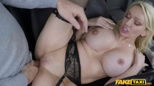 Fake Taxi Blonde babe Amber Jayne fucked by the hot son of john