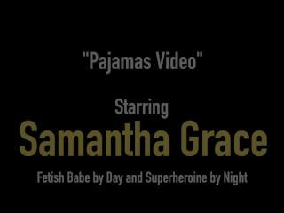 Dirty Blonde All Natural BDSM Babe Samantha Grace Rubs Her Pussy & Cums!