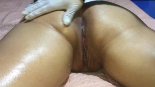 The cuckold allows the woman to receive an erotic massage and record everyt