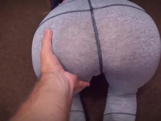 She wanted to do sports, but got sex with cum in ass