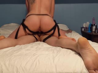 Pegging – some of Mila's POV with a gopro. She pegs me with a original sex toy.