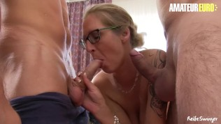 AmateurEuro - German Amateurs Tag Team Busty Hot Mom