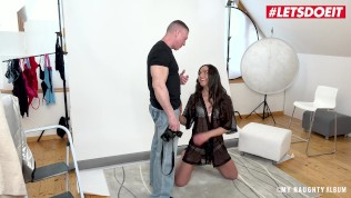LETSDOEIT - Teen Russian Model Rides Big Cock During Photoshoot