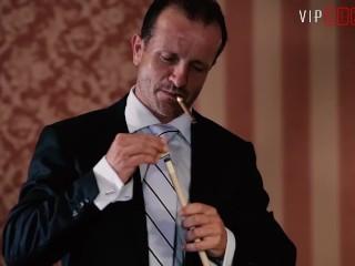 VIPSEXVAULT - Sugar Daddy Fucks His Girl On the Pool Table