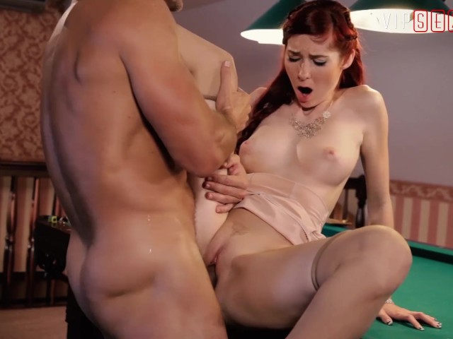 Vipsexvault - Sugar Daddy Fucks His Girl on the Pool Table