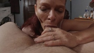Tony's mother (Mrs. S) pays the interest by blowing, rim job, oral cream pi