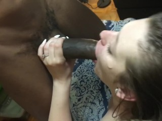 Sexy Blonde Teen White Girl Swallows 12 BBC Loads!! HD!