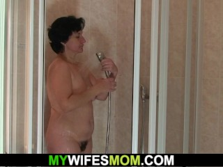 girlfriend's hot mom gives head and rides his big cock
