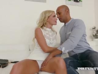 Private.com Presents Hot Blonde Victoria Pure Wrecked By 4 Big Black Cocks!
