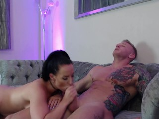Jess Gags on Mikes Cock And Fucked Till Mike Cums All Over Pussy