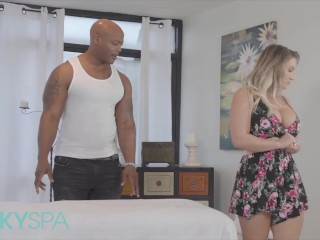 Kinky Spa - Phat ass blonde Cali Carter gets pounded by bbc