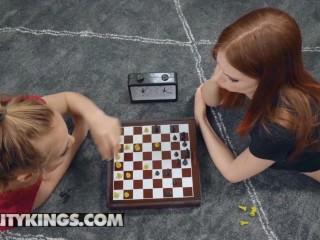 Big/threesome/game durring dude kings reality