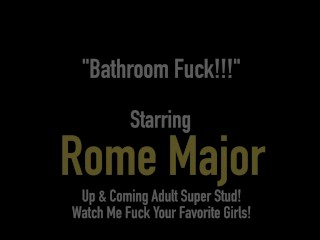 Big Black Bull Rome Major Bangs Brianna Bentley In Bathroom!