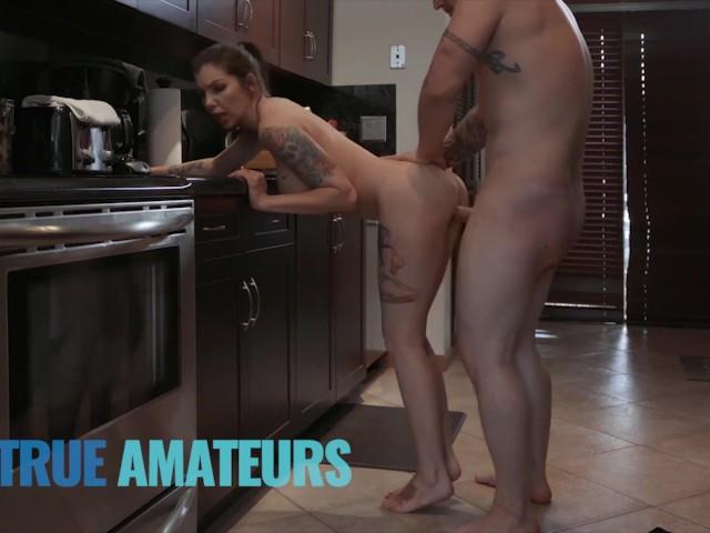 Amateur Alt Goth Gets Cum on Her Tits - Trueamateur