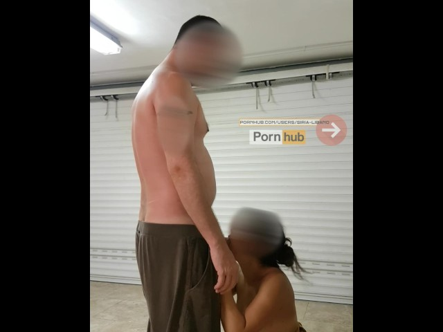 Quickie in the Garage of Friends With Blowjob and Fucking - Pussy to Mouth