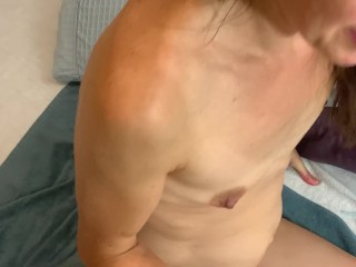 Rubbing his cock all over my ass and then shoots his cum all over my ass