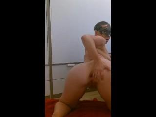 Milf enjoy masturbation with fist and squirt