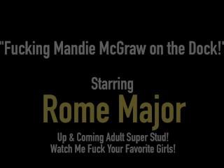 Big Black Cock Rome Major Bangs Ole' Granny Mandie McGraw On Dock, Lakeside