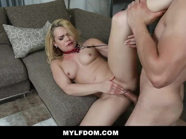 Mylfdom - Busty Blonde Milf Chokes on Her Stepson's Cock