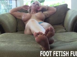 Femdom Foot Fetish And POV Toe Sucking Porn