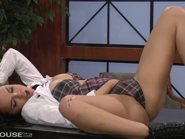 Naked Nympho Dillion Harper Plays With Big Cock to Explosive Orgasm