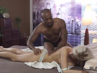 BLACK4K. Young black-skinned boy has his first sex with blonde lass