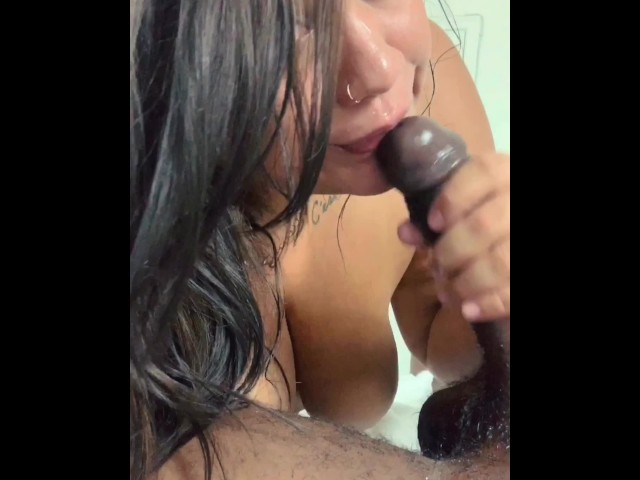 Latina Gives Bbc Blowjob
