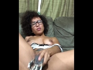 Creamy Dildo and spitting