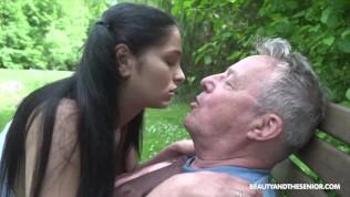 Senior Citizen Pounds Hot Babe