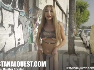 First-time anal with a young blonde from Ukraine, Marilyn Crystal