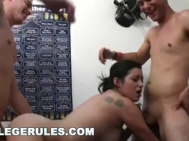 Collegerules - Young College Coeds Have Orgy in Their Dorm Room