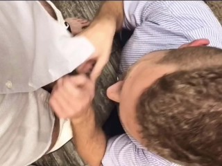 Employee of the Year. POV blowjob in the office meeting room