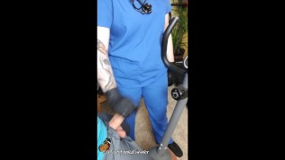 Nurse Home Visit: Tattooed Nurse encourages rehab patient