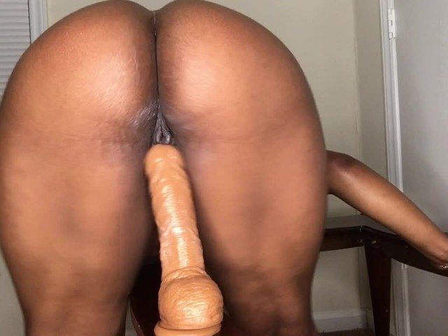 Ebony Female Riding Dildo