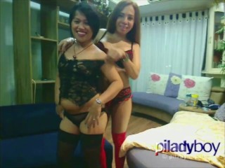 Pi Ladyboy giving it to an asian chubby married woman hot intense sex
