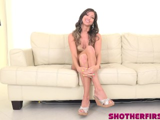 MILF karina does her first porn video
