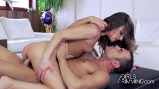 erotic massage and rimming with hot brunette amirah adara