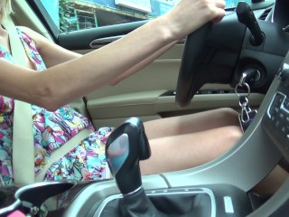 foot fetish and foot job in my fun car ...)))