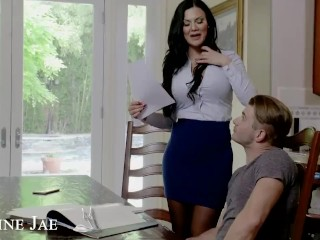 Naughty America - Jasmine Jae gets hard fucked by her son's friend