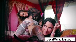 Lesbian MILF action with...