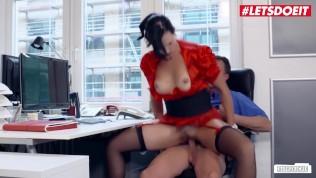 LETSDOEIT - Hot SEX In the German Office With Kinky Secretary