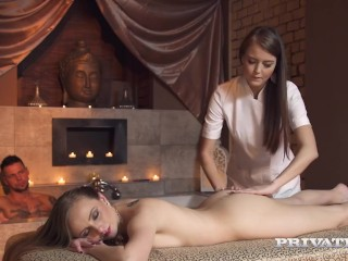Private.com Presents - Hot Lady Bug Dicked At Spa With Brunette Cindy Shine