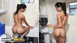BANGBROS - Skinny Venezuelan Housekeeper Veronica Rodriguez Fucks My Friend