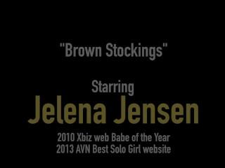 Busty Tall Brunette Amazon Jelena Jensen Masturbates In Hot Lingerie!