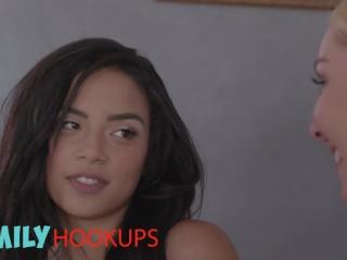 Family Hookups- Milf Aaliyah Love share stepson with gf Maya Bijou