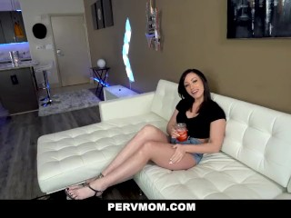 PervMom - Busty Milf And Sexy Teen Team Up On Stepbrother